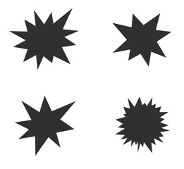 starburst splash star icon