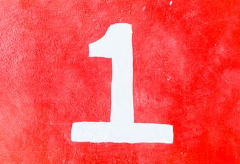 1 number one digit