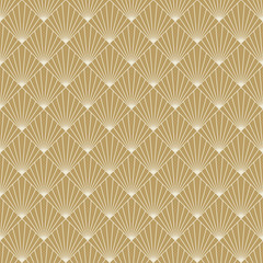 art deco sunburst pattern