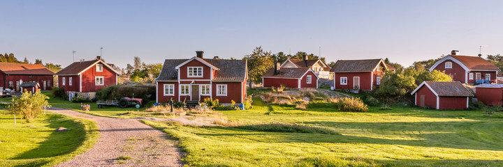 Traditionial village on the island Harstena in Sweden, principal