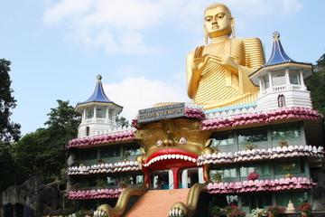 Foto auf Acrylglas Denkmal Dambulla Golden Temple Sri Lanka