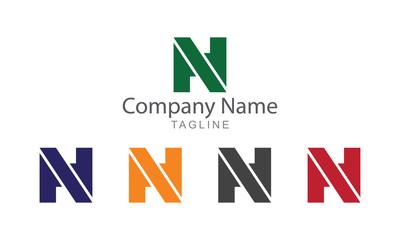 N Lettermark Vector Logo Business Concept.