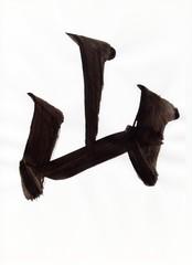 山(english:mountain japanese:yama) 文字 日本漢字(kanji) 毛筆 直筆
