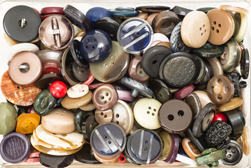 Assortment of colored buttons