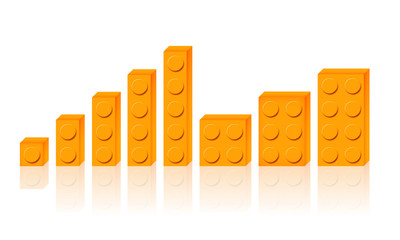 Set mattoncini arancioni
