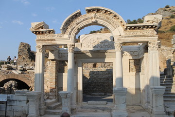 Ephesus antique ruins of the ancient city in the province of Selcuk, Turkey