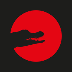 head of a crocodile logo