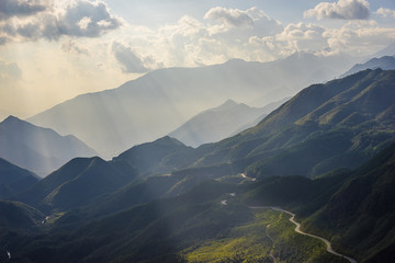 "Mountain view enroute from ""Sapa Vietnam"""