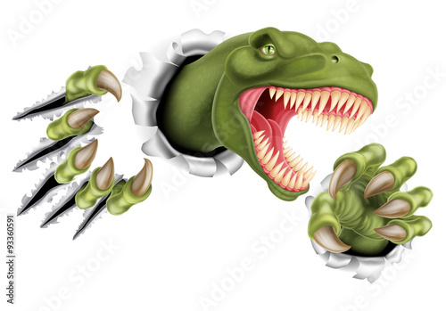T Rex Dinosaur Claws Ripping