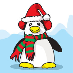 Penguin ready for Cristmas time