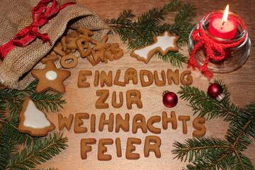 """bilder und videos suchen: """"einladung zur weihnachtsfeier"""", Einladung"""