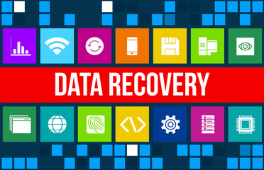 Data Recovery concept image with business icons and