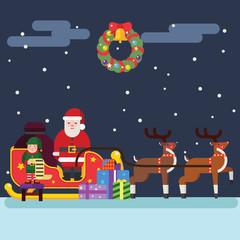 Santa Clause Christmas Elf Reindeer