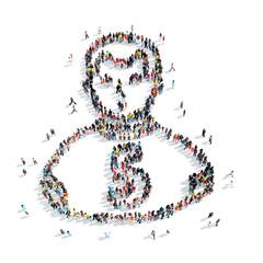 people shape  athlete cartoon
