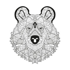 hand drawn decorative bear