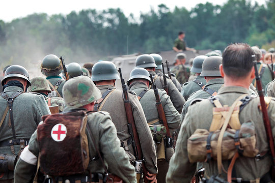 Squad of german soldiers