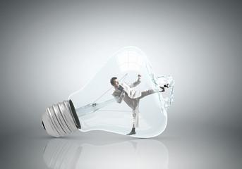 Inside light bulb