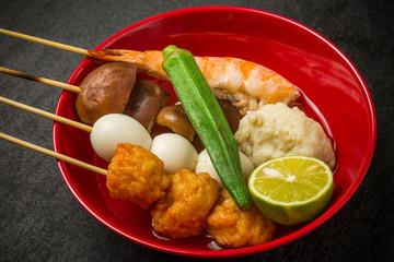 東南アジアのおでん Yong Tau Foo Singaporean food