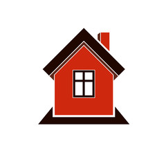 Simple house icon for graphic design, mansion conceptual symbol