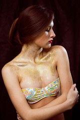 Portrait of sensual sexi woman in bra