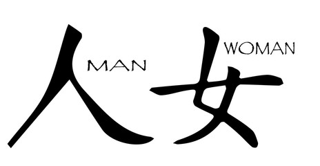 Chinese Symbol Man Woman