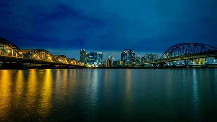 Printed roller blinds Sydney 大阪の夜景 淀川から見た梅田