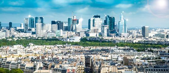 vista della Defense dalla torre Eiffel