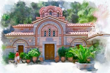 The monastery of St. George Selinaris