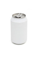 aluminum cans on the white background