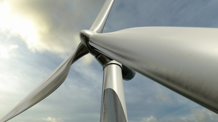Wind turbine or electric mill
