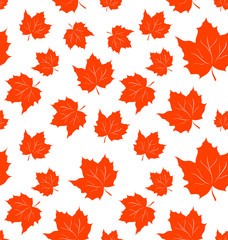 Autumnal Maple Leaves, Seamless Background