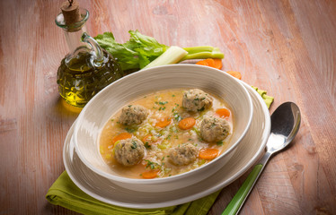 soup with meat balls