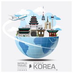 Republic Of Korea Landmark Global Travel And Journey Infographic