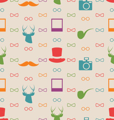 Hipster Seamless Texture, Pattern with Vintage Colors