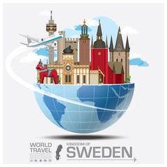 Sweden Landmark Global Travel And Journey Infographic
