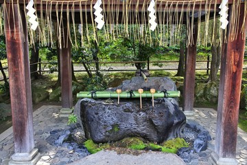 Wall Mural - Purification fountain - Buddhist custom in Japan