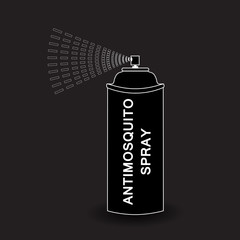 Vector  Aerosol Spray. spray isolated on black background
