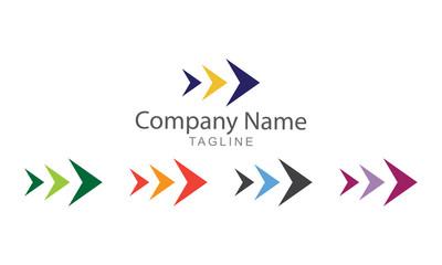 Arrow Trisula Element Vector Logo Business Concept
