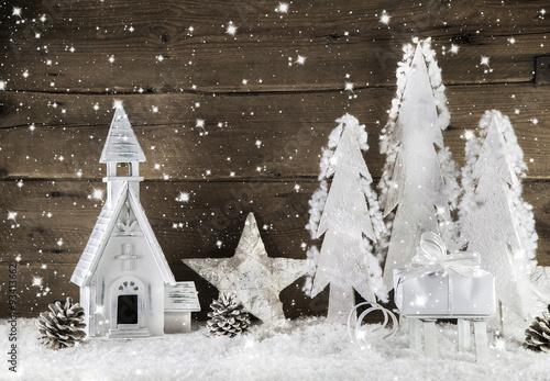 Romantische Weihnachtszeit Dekoration Zu Weihnachten In