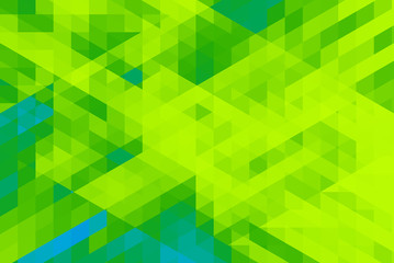 Green tone abstraction, composed of green parallelogram.