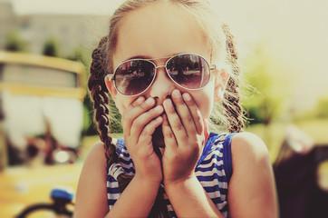 Little girl expressing amazement