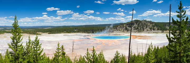 Panorama of the Grand Prismatic Spring