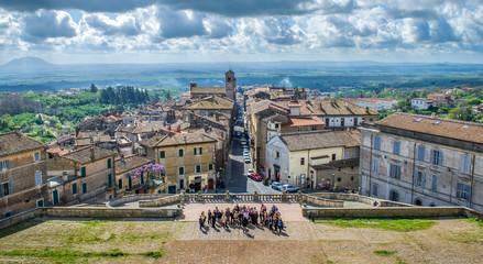 tourists Italy - Caprarola - Viterbo - Lazio - village