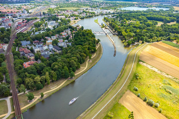 Aerial view of Opole