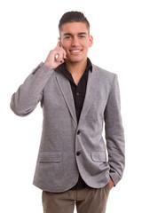 Boy at the phone