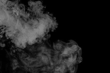 Abstract gray smoke hookah. Close-up.