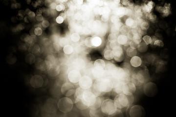 bokeh lights on black background