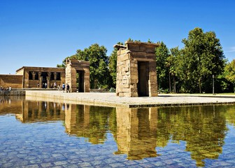 Debod- Temple Ancient Egyptian temple, moved to the West Park in