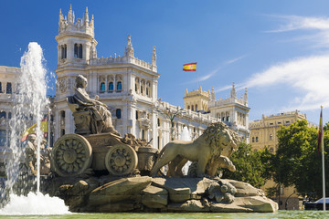 Acrylic Prints Historical buildings Cibeles Fountain - a fountain in the square of the same name in