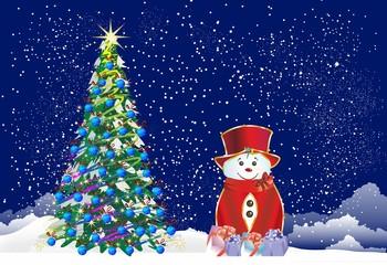 bożonarodzeniowa dekoracja z bałwanem,